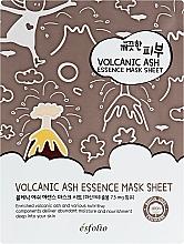 Perfumería y cosmética Mascarilla facial de tejido con extracto de ceniza volcánica - Esfolio Pure Skin Volcanic Ash Essence Mask Sheet