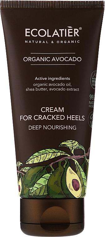 Crema para talones con extracto y aceite de aguacate orgánico - Ecolatier Organic Avocado Cream For Cracked Heels