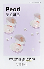 Perfumería y cosmética Mascarilla facial con extracto de perla - Missha Airy Fit Pearl Sheet Mask