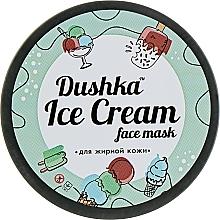 Perfumería y cosmética Mascarilla facial a base de arcilla con aroma a piña, grosella negra y frambuesa para pieles grasas - Dushka Ice Cream Mask