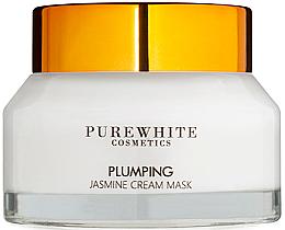 Perfumería y cosmética Mascarilla facial en crema con extracto de jazmín - Pure White Cosmetics Plumping Jasmine Cream Mask