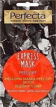 Perfumería y cosmética Mascarilla facial exfoliante con carbón activo y arcilla de bentonita - Perfecta Express Mask Peel-Off Detox