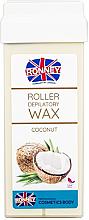 Perfumería y cosmética Cartucho de cera depilatoria roll-on, coco - Ronney Wax Cartridge Coconut