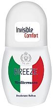 Perfumería y cosmética Desodorante roll-on invisible, Mediterráneo - Breeze Invisible Comfort Deodorante Roll-on