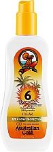 Perfumería y cosmética Gel protector solar en spray - Australian Gold Body Spray Gel SPF6