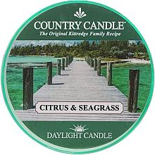 Perfumería y cosmética Vela perfumada con aroma a mandarina, pomelo & menta dulce - Country Candle Citrus & Seagrass Daylight