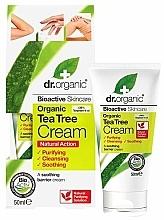 Perfumería y cosmética Crema corporal con extracto de árbol de té organico y aloe - Dr. Organic Bioactive Skincare Tea Tree Cream