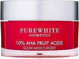Perfumería y cosmética Crema facial hidratante con 10% ácidos de frutas - Pure White Cosmetics 10% AHA Fruit Acids Glow Moisturizer
