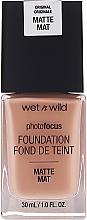 Perfumería y cosmética Base de maquillaje con complejo difusor de luz mate para una piel perfecta - Wet N Wild Photofocus Foundation