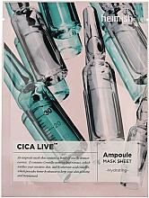 Perfumería y cosmética Mascarilla facial de tejido hidratante con extracto de centella asiática - Heimish Cica Live Ampoule Mask