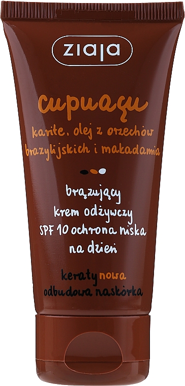 Crema de día nutritiva bronceadora - Ziaja Cupuacu Bronzing Nourishing Day Cream Spf 10