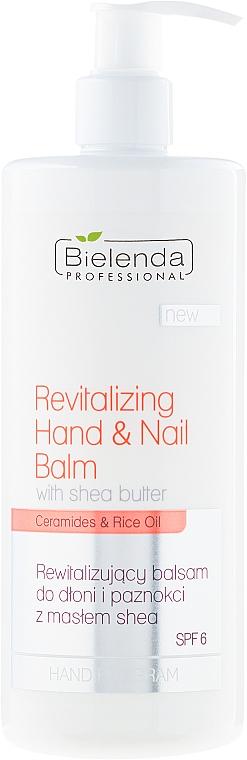 Loción revitalizante para manos y uñas con manteca de karité - Bielenda Professional Hand Program Revitalizing Hand & Nail Balm SPF 6