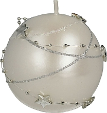 Perfumería y cosmética Vela decorativa, blanca, 8cm - Artman Christmas Garland
