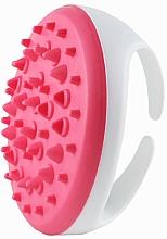 Perfumería y cosmética Cepillo de masaje anticelulítico de silicona, rosa y blanco - Deni Carte