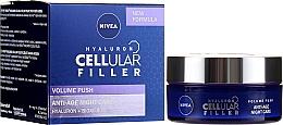 Perfumería y cosmética Crema de noche con ácido hialurónico y colágeno - Nivea Hyaluron Cellular Filler Night Cream