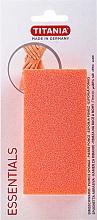 Perfumería y cosmética Esponja pómez, rectangular, naranja - Titania