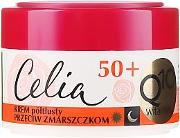 Perfumería y cosmética Crema facial antiedad con coenzima Q10, aceite de almendras dulces - Celia Q10 Vitamin 50+