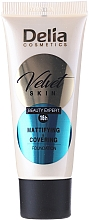 Perfumería y cosmética Base de maquillaje de cobertura alta y acabado mate para pieles grasas y mixtas - Delia Mineral Velvet Skin