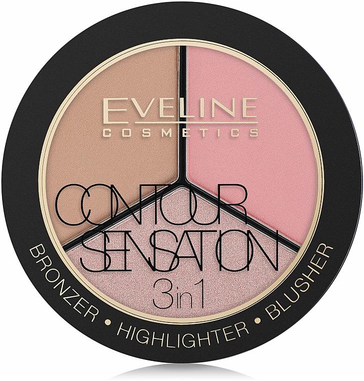 Paleta de contorno - Eveline Cosmetics Contour Sensation