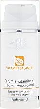 Perfumería y cosmética Sérum facial aclarante con vitamina C y extracto de uva blanca - APIS Professional Vitamin-Balance Algae Serum