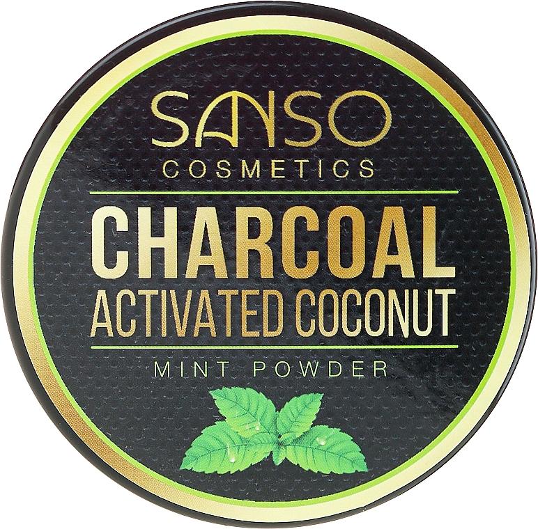 Blanqueador dental de carbón activo en polvo - Sanso Cosmetics Charcoal Activated Coconut Mint Powder