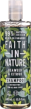 Perfumería y cosmética Champú natural detoxificante vegano con algas marinas y cítricos, sin parabenos ni siliconas - Faith In Nature Seaweed & Citrus Shampoo
