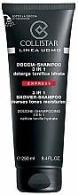 Perfumería y cosmética Champú para cuerpo y cabello con ácido hialurónico, pantenol y ginseng - Collistar Linea Uomo Doccia-shampoo 3 in 1