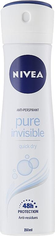 Desodorante spray 48h - Nivea Pure Invisible Deodorant Spray 48H — imagen N1