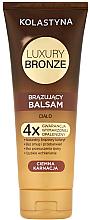 Perfumería y cosmética Bálsamo autobronceador para piel oscura con aceites de coco, karité y nuez - Kolastyna Luxury Bronze Tanning Balm