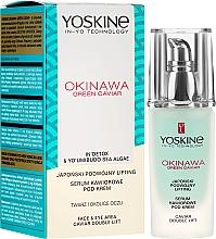 Perfumería y cosmética Sérum para rostro y ojos con extracto de caviar verde - Yoskine Okinawa Green Caviar Lifting Serum