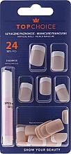 Perfumería y cosmética Uñas postizas con pegamento incluido, french 74073 - Top Choice