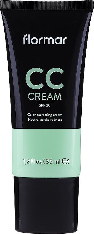 CC crema facial antirojeces, SPF 20 - Flormar CC Cream Anti-Redness