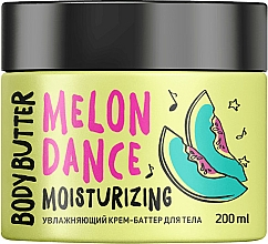 Perfumería y cosmética Crema manteca corporal hidratante, Melón - MonoLove Bio Melon Dance Body Butter