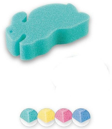 Esponja de baño infantil, conejito, verde - Top Choice