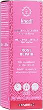 Perfumería y cosmética Aceite ayurvédico nutritivo para cabello con rosas - Khadi Ayuverdic Rose Repair Hair Oil