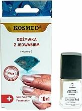 Perfumería y cosmética Acondicionador de uñas 10 en 1 con vitamina E - Kosmed Silk Nail Conditioner