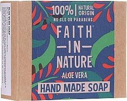 Perfumería y cosmética Jabón artesanal con aloe vera, 100% natural - Faith In Nature Aloe Vera Soap