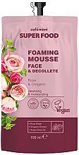 Perfumería y cosmética Mousse de limpieza para rostro y escote con agua de rosa damascena y extracto de orégano - Cafe Mimi Super Food