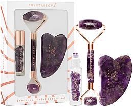 Perfumería y cosmética Set masaje facial de amatista - Crystallove Amethyst Beauty Set