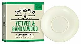 Perfumería y cosmética Recarga de jabón de afeitar con aroma a vetiver y sándalo - Scottish Fine Soaps Vetiver & Sandalwood Shaving Soap Refill
