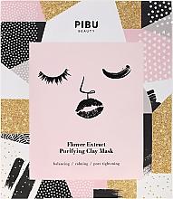 Perfumería y cosmética Mascarilla facial de arcilla purificante con extracto de flores - Pibu Beauty Flower Extract Purifying Clay Mask