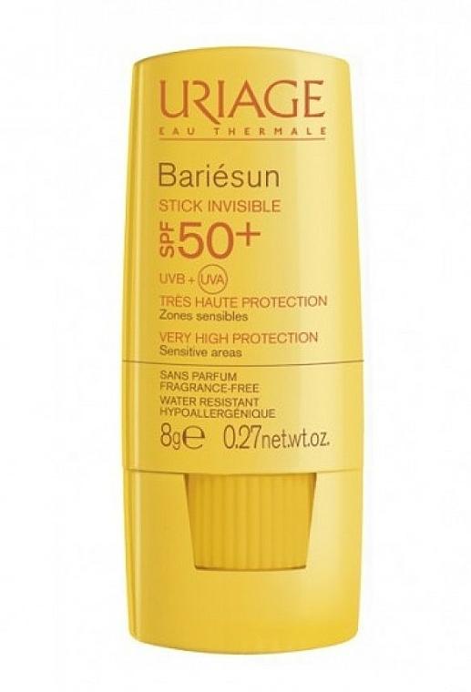 Protector solar hipoalergénico en stick para rostro y cuerpo, resistente al agua - Uriage Bariesun Stick Invisible SPF50+