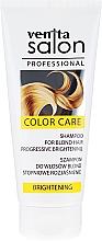 Perfumería y cosmética Champú revitalizante aclarador para cabello rubio con extracto de cúrcuma - Venita Salon Professional Brightening Shampoo