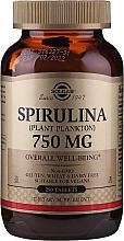 Perfumería y cosmética Complemento alimenticio de Espirulina, 750 mg  - Solgar Spirulina Plant Plankton