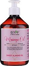 Perfumería y cosmética Aceite de masaje con almendras dulces - Eco U Massage Oil Sweet Almond Oil