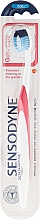 Perfumería y cosmética Cepillo para dientes sensibles suave, blanco-rojo - Sensodyne Gum Care Soft
