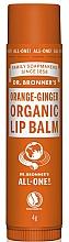 Perfumería y cosmética Bálsamo labial con cera de abejas orgánica, de naranja&jengibre - Dr. Bronner's Orange & Ginger Lip Balm