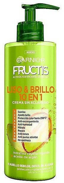 Crema para cabello rebelde con queratina y aceite de argán - Garnier Fructis Smooth & Shine Cream