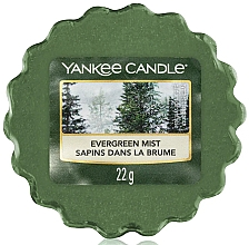 Perfumería y cosmética Cera aromática, abeto, eucalipto y pino - Yankee Candle Evergreen Mist Wax Melts