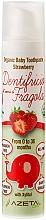 Perfumería y cosmética Pasta dental orgánica para bebés con sabor a fresa - Azeta Bio Organic Baby Toothpaste Strawberry